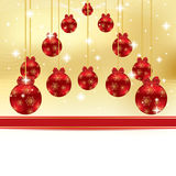 Abstract winter Christmas background. With ball Stock Image