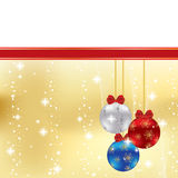 Abstract winter Christmas background. With ball Royalty Free Stock Images