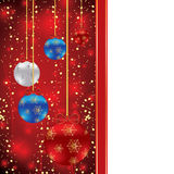 Abstract winter Christmas background. With ball Royalty Free Stock Photo