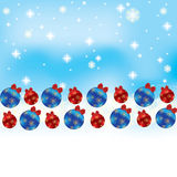 Abstract winter Christmas background. With ball Stock Photography