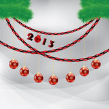 Abstract winter Christmas background. With ball stock illustration