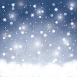Abstract winter Christmas background Stock Images