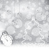 Abstract winter Christmas New Year background Stock Images