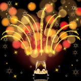 Abstract winter Christmas New Year background Royalty Free Stock Photos