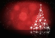 Abstract winter christmas red background Royalty Free Stock Photos