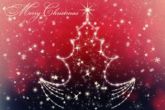 Abstract winter christmas red background Stock Images
