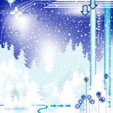 Abstract winter design Stock Photography