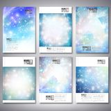 Abstract winter design background with snowflakes Stock Image