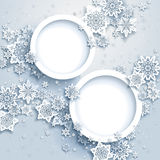 Abstract winter design with snowflakes Royalty Free Stock Photos