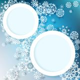 Abstract winter design with snowflakes. EPS 10 Royalty Free Stock Photography