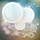 Abstract winter design with snowflakes. EPS 10 Stock Image