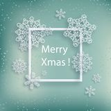 Abstract winter design with snowflakes and space for text.  Stock Image