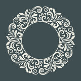Abstract winter floral frame template. Stock Image