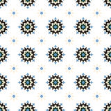 Abstract winter geometrical flower seamless pattern Stock Photo