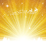 Abstract winter golden background Royalty Free Stock Photos