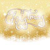 Abstract winter golden snowflakes background Royalty Free Stock Images