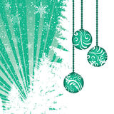 Abstract winter green Christmas background Royalty Free Stock Photo