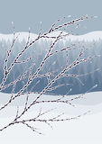 Abstract winter landscape Royalty Free Stock Images