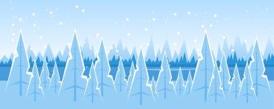 Abstract winter landscape vector illustration
