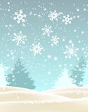 Abstract winter landscape, illustration Stock Image