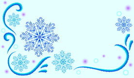 Abstract winter light blue background with frost patterns. Abstract winter light blue background with snowflakes and frost patterns Stock Photography