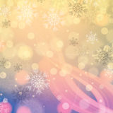 Abstract winter light colors snowflakes background Royalty Free Illustration