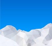 Abstract winter mountains Stock Photos