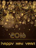 Abstract winter New Year background with fireworks stock illustration