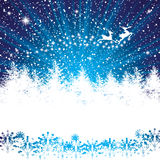 Abstract winter night background Stock Photo