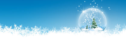Abstract Winter Panorama Background with Azure Blue Sky Stock Images