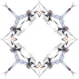 Abstract winter pattern in the Art Nouveau style royalty free illustration