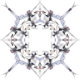 Abstract winter pattern in the Art Nouveau style Stock Images