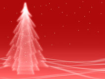 Abstract winter red illusion Royalty Free Stock Image