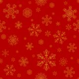 Abstract winter red seamless pattern Stock Image