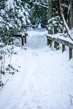 Abstract winter scene on a country farm Stock Images