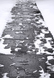 Abstract Winter Sidewalk Stock Image