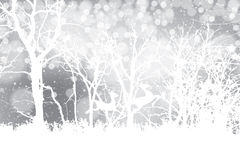 Abstract winter silver white snowflakes background Stock Illustration