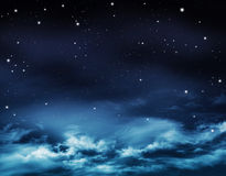 Abstract winter sky, background Royalty Free Stock Images