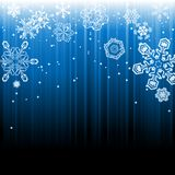 Abstract winter snowfall background Stock Photo