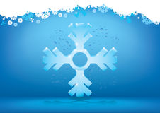 Abstract winter snowflake background Stock Image