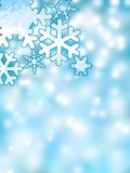 Abstract Winter Snowflakes Background Stock Images