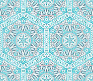 Abstract winter snowflakes seamless vector pattern Stock Image