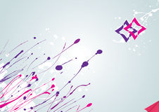Abstract Winter splash. Abstract  background with ink drops and logotypes Royalty Free Stock Images