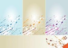 Abstract Winter splash 3 colors vector illustration
