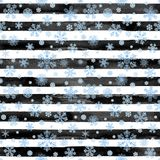 Abstract winter striped seamless pattern Stock Photos