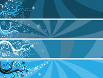 Abstract winter theme banners Stock Photography