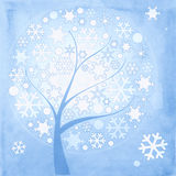 Abstract winter tree with Stock Photos