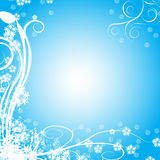 Abstract winter vector backgro Stock Photos