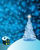 Abstract winter vector background scene Royalty Free Stock Photos