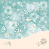 Abstract Winter Vector Background with Snowflakes Stock Photo